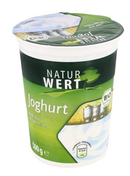 NaturWert Bio Naturjoghurt 0,3% mild aus Magermilch