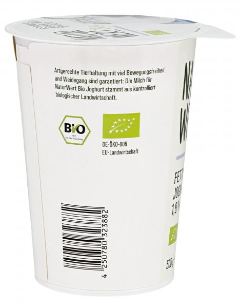 NaturWert Bio Fettarmer Joghurt mild 1,8% Fett