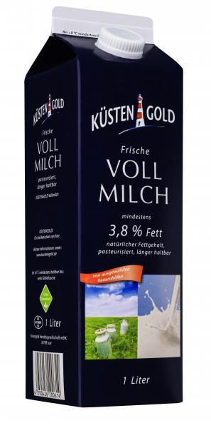 Küstengold Frische Vollmilch 3,8%