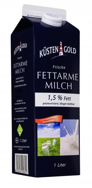 Küstengold Frische Fettarme Milch 1,5%