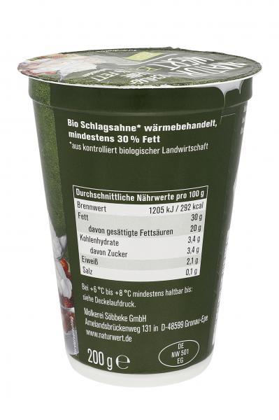 NaturWert Bio Schlagsahne 30%