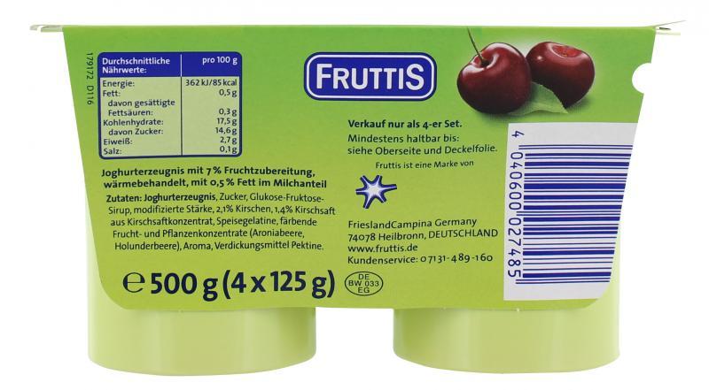 Fruttis Joghurt Kirsche 0,5%