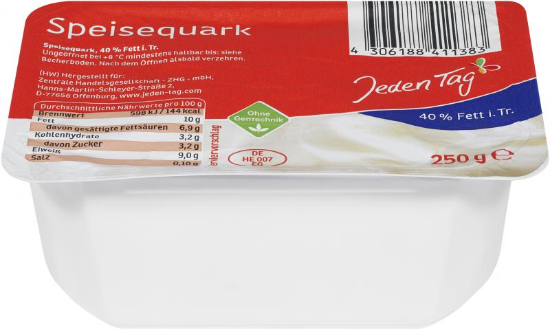 Jeden Tag Speisequark 40%