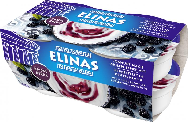 Elinas Joghurt nach griechischer Art Brombeere