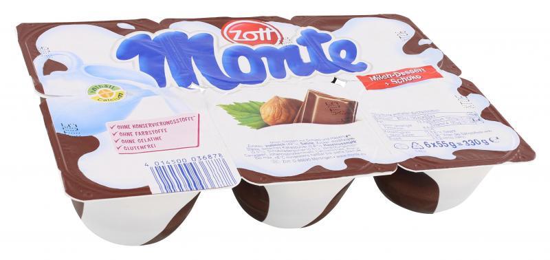 Zott Monte Milch-Dessert + Schoko