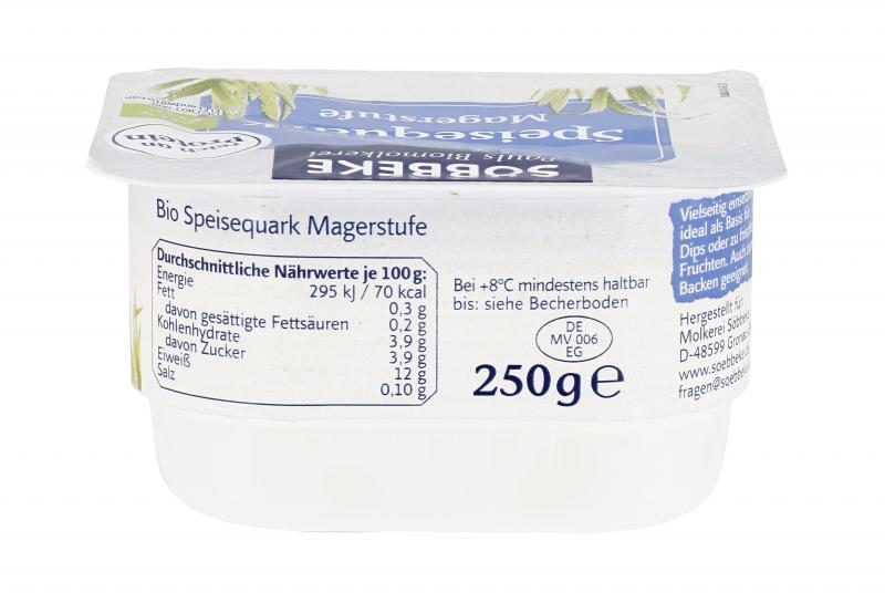 Söbbeke Bio-Speisequark Magerstufe