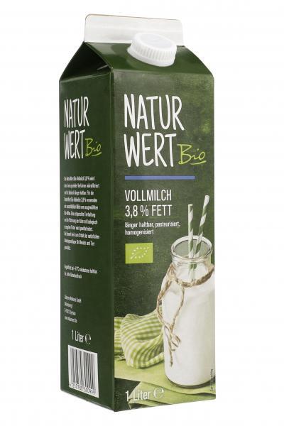 NaturWert Bio Vollmilch 3,8%