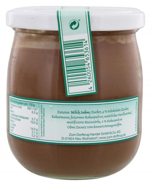 Zum Dorfkrug Sylter Schokoladenpudding