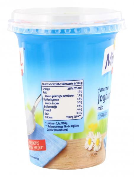 Minus L fettarmer Joghurt mild 1,5 %