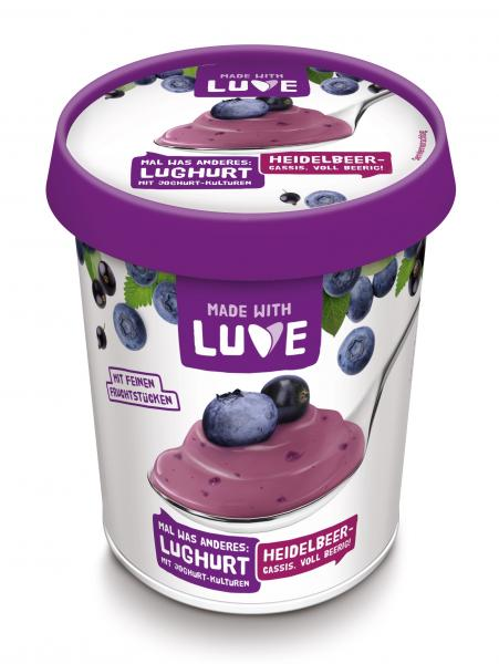 Made with Luve Lupinen Joghurt-Alternative Heidelbeer-Cassis