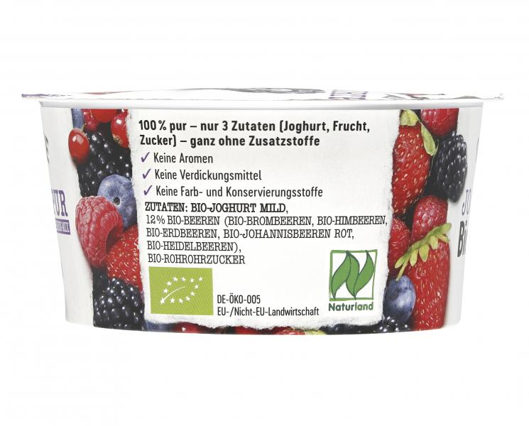 Gläserne Molkerei Bio-Joghurt Pur Beeren-Mix