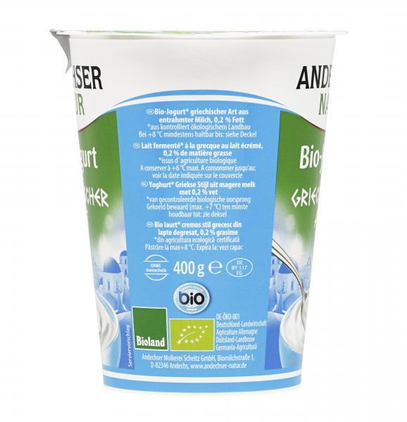Andechser Natur Bio Joghurt griechischer Art 0,2%