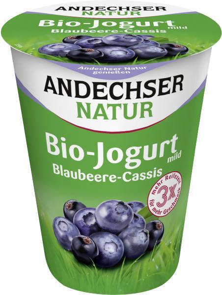 Andechser Natur Bio-Joghurt Blaubeere-Cassis
