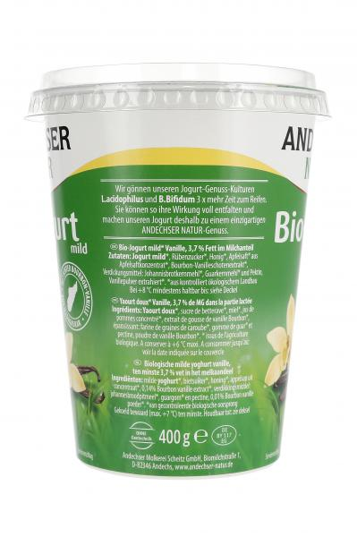Andechser Natur Bio-Joghurt Vanille