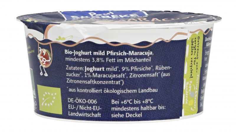 Söbbeke Pur Bio Joghurt Pfirsich-Maracuja