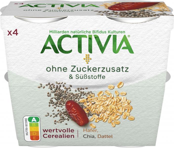 Danone Activia Ohne Zuckerzusatz & Süßstoffe Hafer Chia Dattel