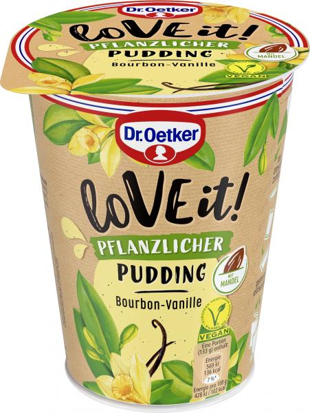 Dr. Oetker LoVE it! Pflanzlicher Pudding Bourbon-Vanille