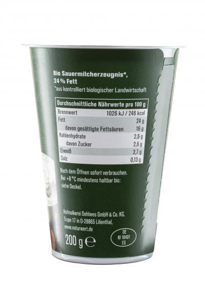 Naturwert Bio Schmand 24%