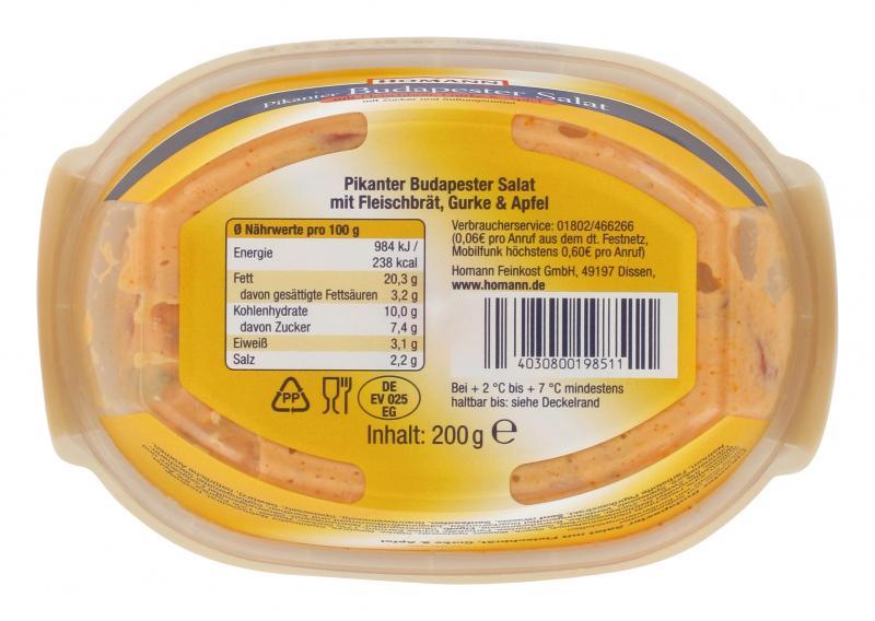 Homann Pikanter Budapester Salat