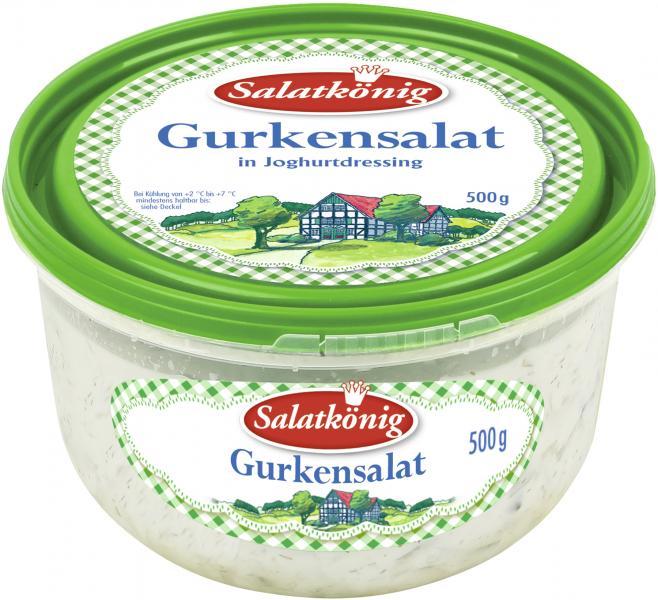 Salatkönig Gurkensalat in Joghurtdressing