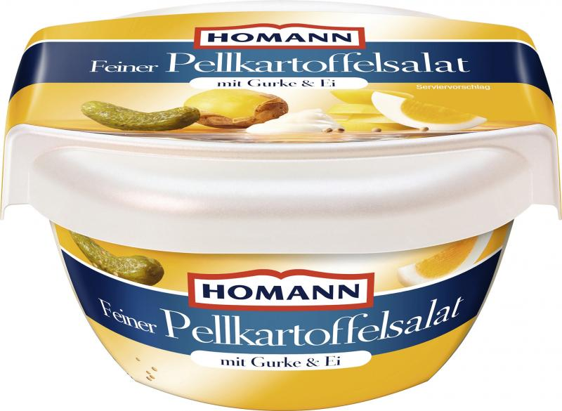 Homann Pellkartoffelsalat mit Gurke & Ei