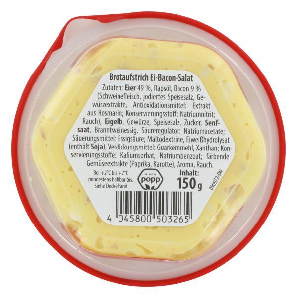 Popp Brotaufstrich Ei-Bacon-Salat