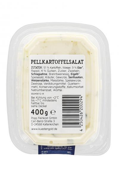 Küstengold Pellkartoffelsalat mit Ei und Gurke
