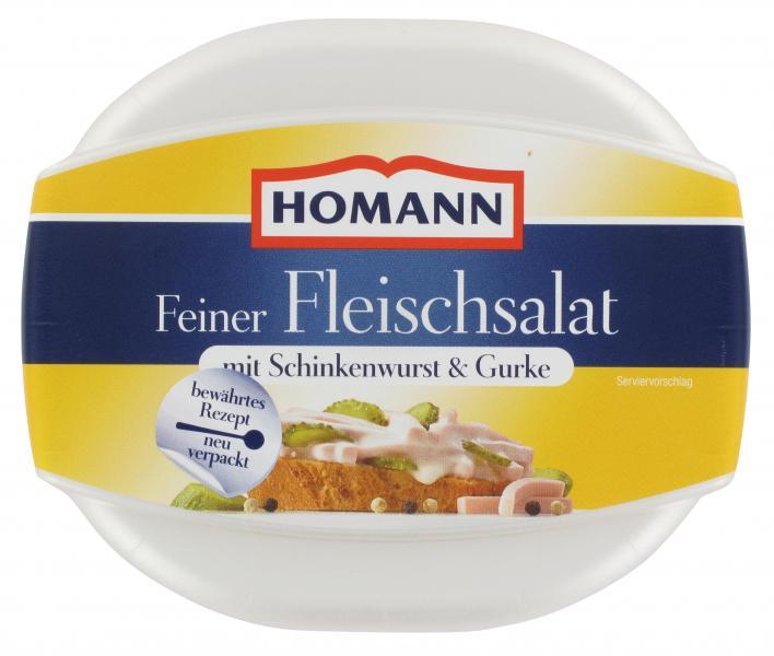 Homann Feiner Fleischsalat mit Schinkenwurst & Gurke