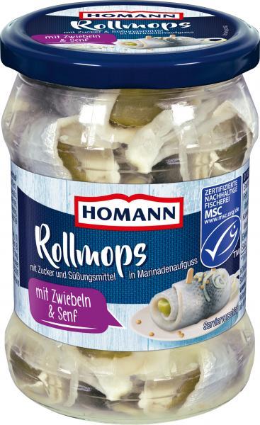Homann Rollmops mit Zwiebeln & Senf