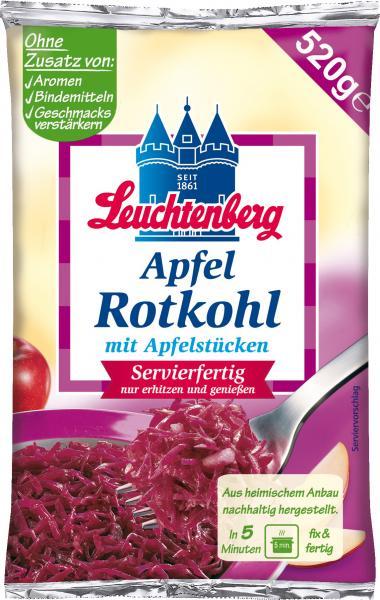 Leuchtenberg Apfel Rotkohl mit Apfelstücken servierfertig