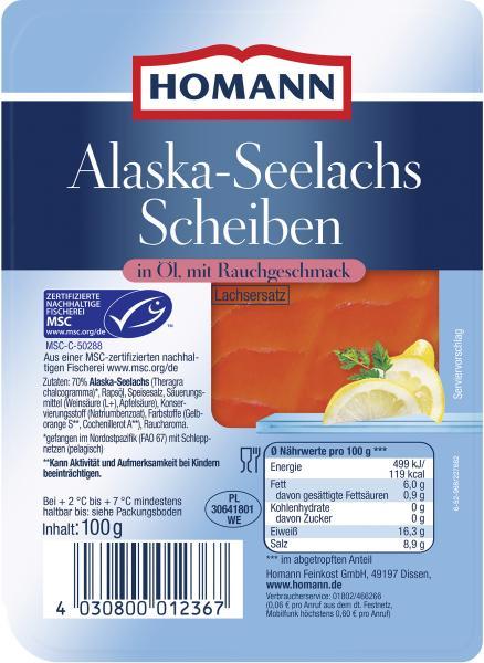 Homann Alaska-Seelachs-Scheiben geräuchert