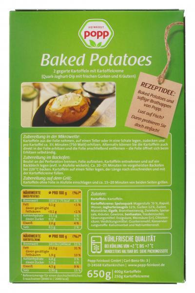 Popp Baked Potatoes mit Kartoffelcreme