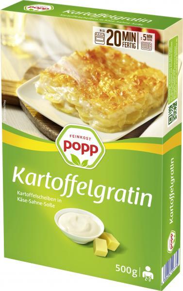 Popp Kartoffelgratin Kartoffelscheiben in Käse-Sahne-Soße
