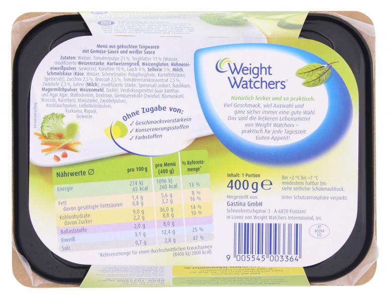 Weight Watchers Gemüse-Lasagne