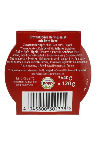 Popp Brotaufstrich Minis Heringssalat