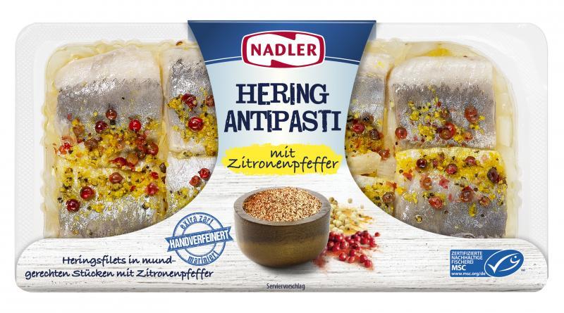Nadler Hering Antipasti mit Zitronenpfeffer