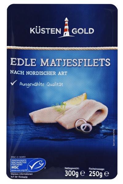 Küstengold MSC Edle Matjesfilets nordische Art