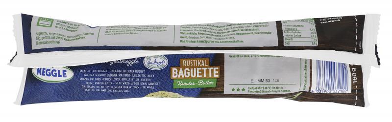 Meggle Rustikal Baguette Kräuter-Butter