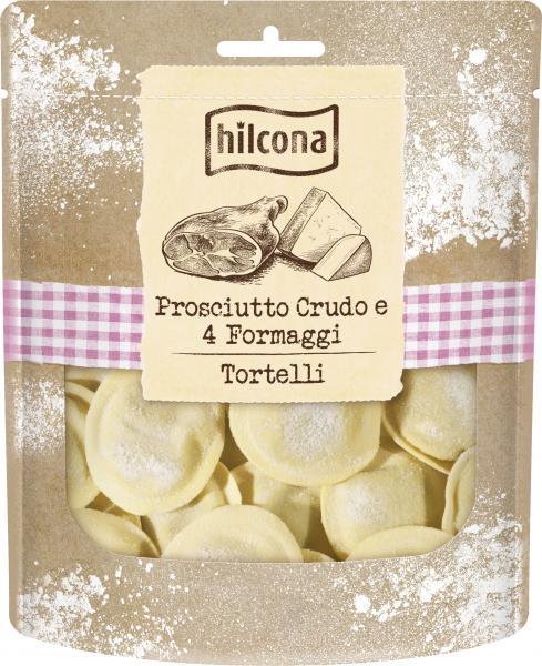 Hilcona Tortelli Prosciutto Crudo e 4 Fromaggi