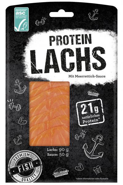 Krone Protein Lachs mit Meerrettich-Sauce