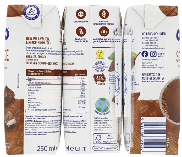 Alpro Sojadrink Schokolade UHT vegan