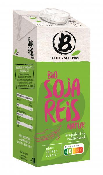 Berief Bio Soja Reis Drink Natur