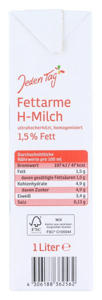 Jeden Tag H-Milch 1,5%