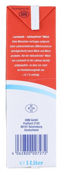 Lactowell H-Vollmilch 3,8%