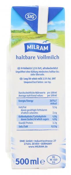 Milram Haltbare Vollmilch 3,5%