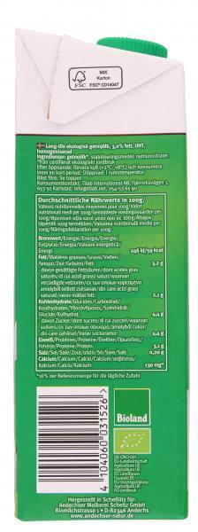 Andechser Natur Haltbare Bio-Ziegenmilch 3,0%
