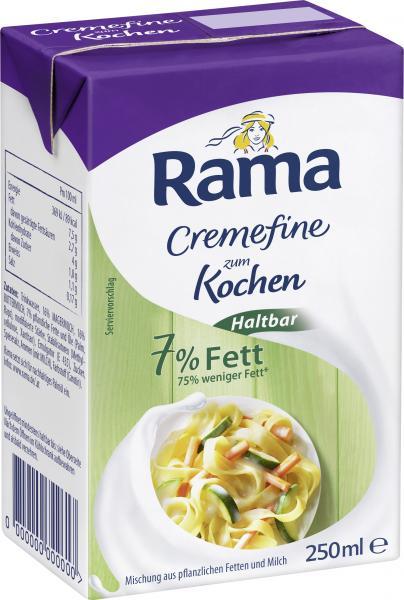 Rama Cremefine zum Kochen Haltbar 7% Fett