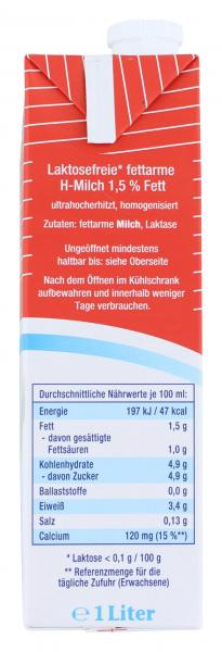Lactowell fettarme Milch 1,5%