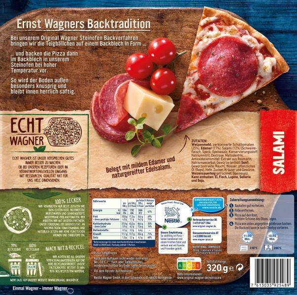 Original Wagner Steinofen Pizza Salami