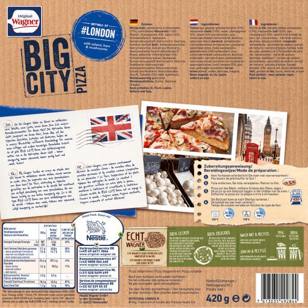 Original Wagner Big City Pizza London